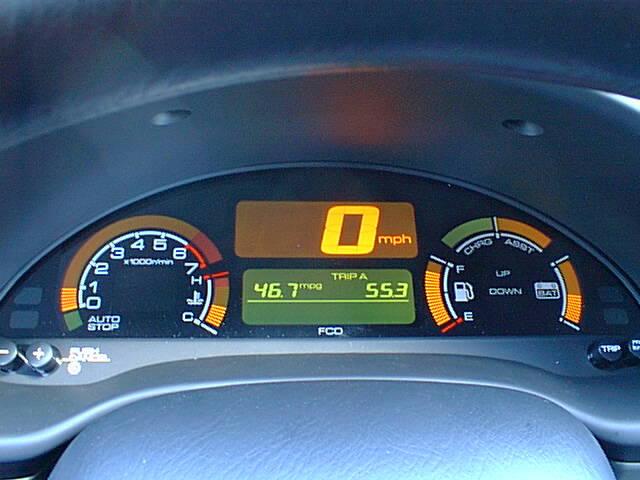Auto Electric Instrument : Honda insight hybrid electric car from ev rental